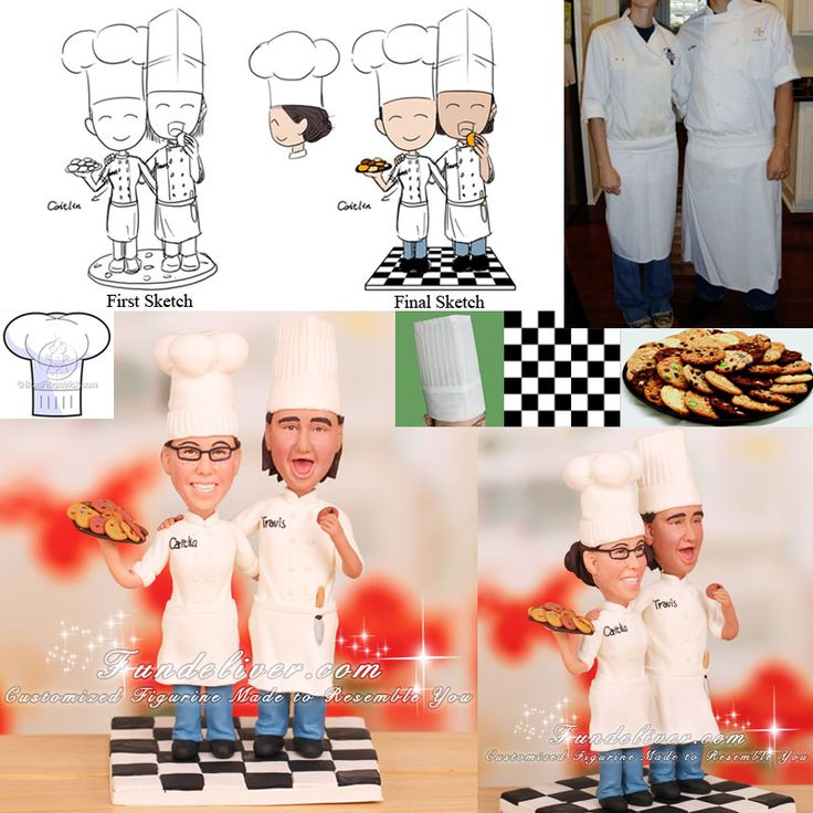 chef groom wedding cake topper 17 best images about careers cake toppers on 12632