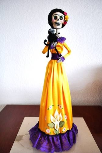 Mexican Folk Crafts, catrinas, paper mache, Frida Kahlo
