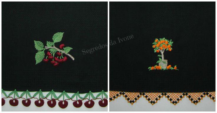 AC22- Confecção de remate em crochet, em panos de loiça