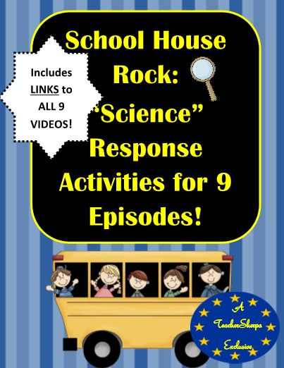 School House Rock Science 9 Video Response Activ. #editableprintables #freeprintables