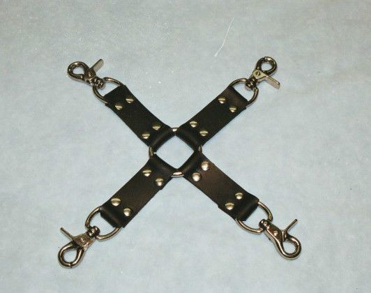 "Leather restraint 11-1/2"" Black Leather Hog Tie, Four Way Hog Tie @ http://stores.ebay.com/NYCLeather1022"