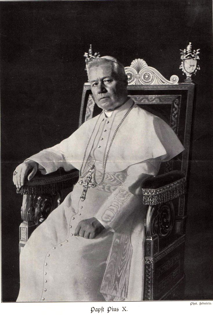 Pope Pius X   Pius X rejected modernist interpretations of Catholic doctrine, promoting traditional devotional practices and orthodox theology.