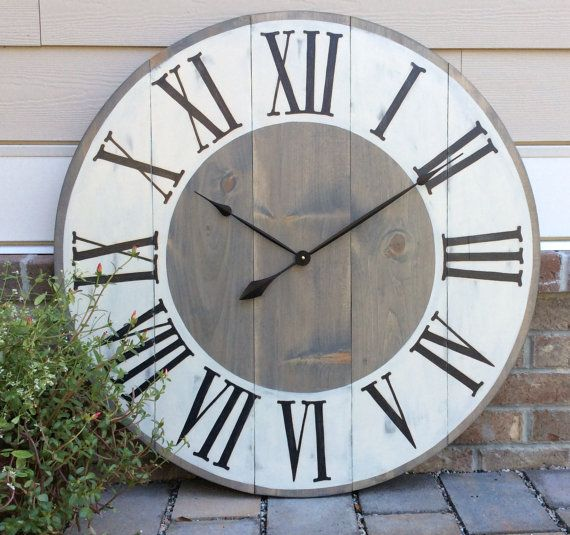 Large Wall Clock. Oversized Wall Clock. Custom Wall Clock. This functioning version of my 6 foot clock is available in several sizes. This listing is for a 42 clock. To purchase another size or a clock with no center personalization, please go to my shops main page to select the