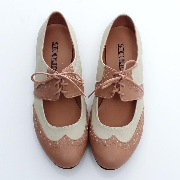 Creative Women39s Lace Up Wing Tip Shoes Dress Low Heel Multi Color Oxfords