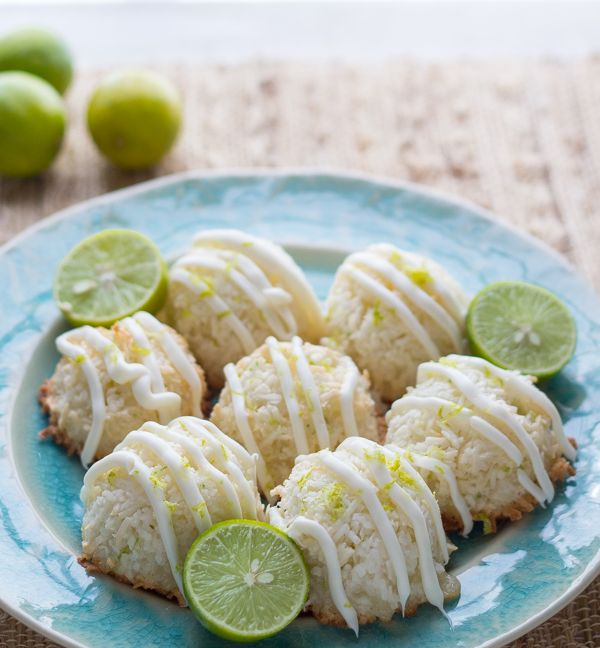 Key Lime and White Chocolate Macaroons