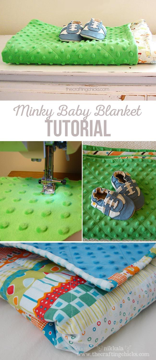 How to make the perfect minky baby blanket. via @craftingchicks
