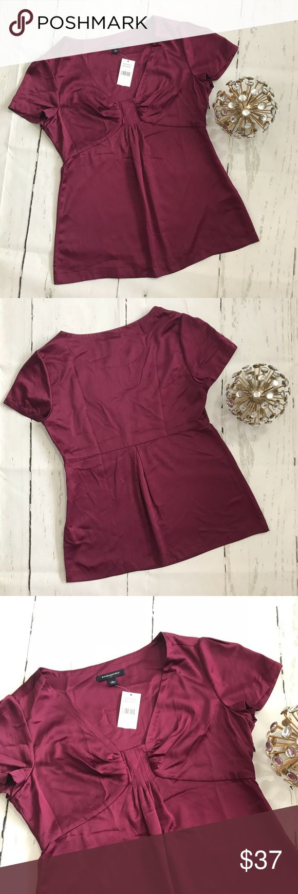 Banana Republic Blouse NWT This is a beautiful Banana Republic Blouse, this color looks amazing. It's like a Burgundy Color, colors may varied by light. See pictures. •NWT •100% Polyester  •Size Small •Side Sipped   🚫No Trades 🚫  📦 Fast Shipping 📦 💵 Open to Offers 💵  💕 Willing to Bundle 💕 ➵ Pet free home 🐶 ➵ Smoke free home 🚬 🌸Always Shipped the same or next day🌸 Banana Republic Tops Blouses