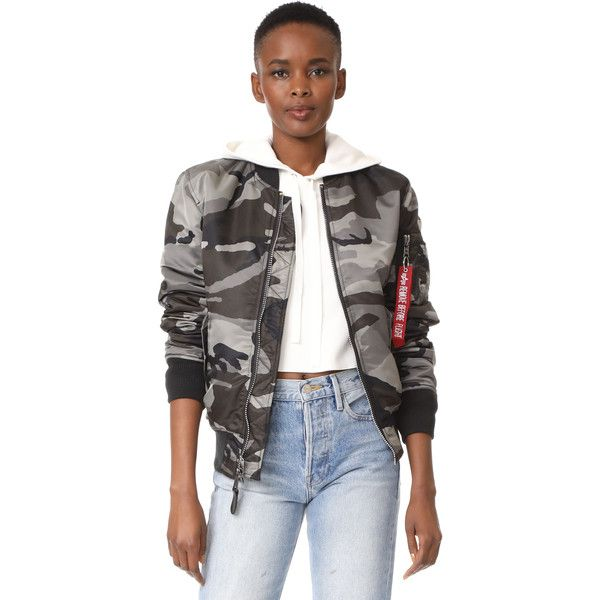 Alpha Industries MA-1 Slim Fit Jacket (€130) ❤ liked on Polyvore featuring outerwear, jackets, tonal black camo, camo bomber jacket, slim fit bomber jacket, layered jacket, camoflage jacket and bomber jackets