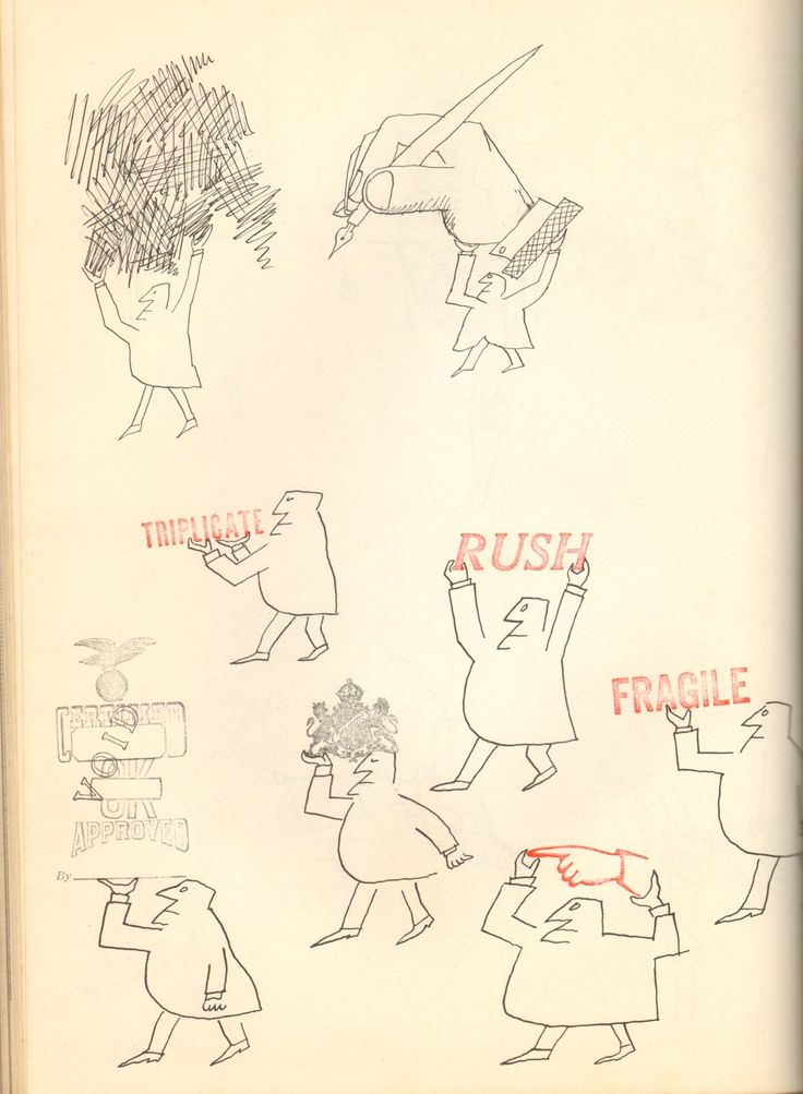 """Office Supplies by Saul Steinberg. I so enjoyed his """"stamp series"""" especially as a child."""