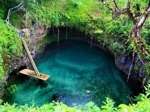 tosua pool, samoaSamoa Islands, Swimming Holes, Pacific Ocean, Yucatan Mexico, Newzealand, Natural Swimming Pools, Natural Pools, Nature Pools, New Zealand