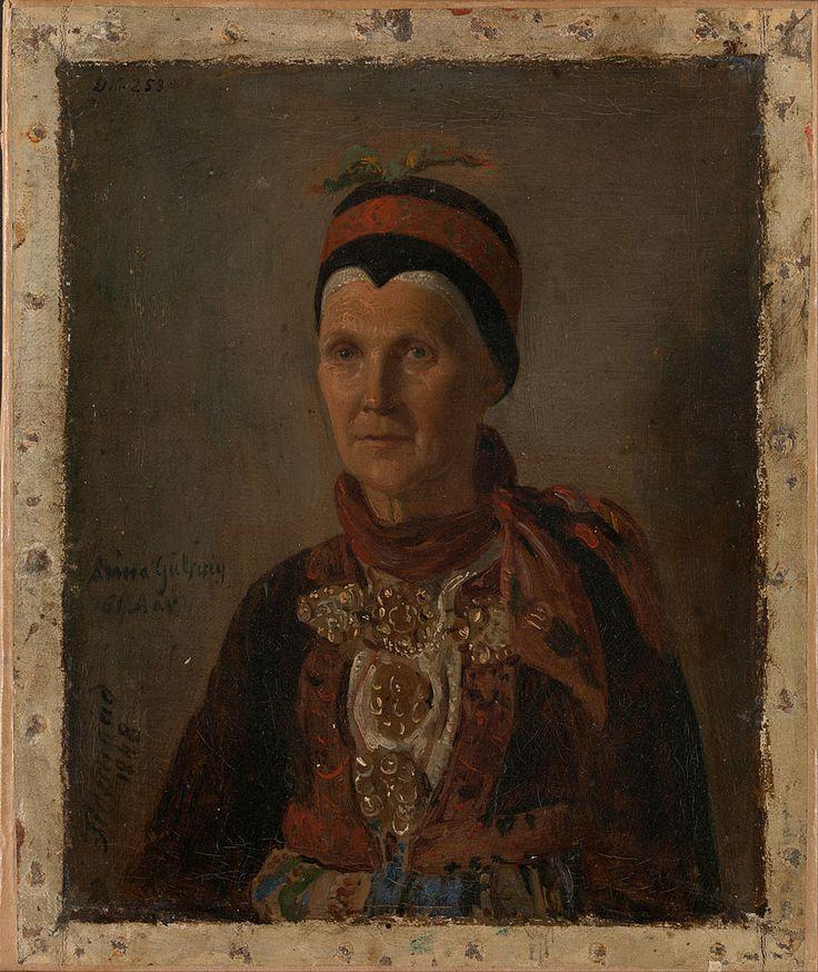 Adolph Tidemand - Portrait of Anna Gulsvig. 1848. jpg (862×1024)