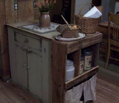 primitive kitchen islands the prairie house primitives my kitchen dining room make 1658