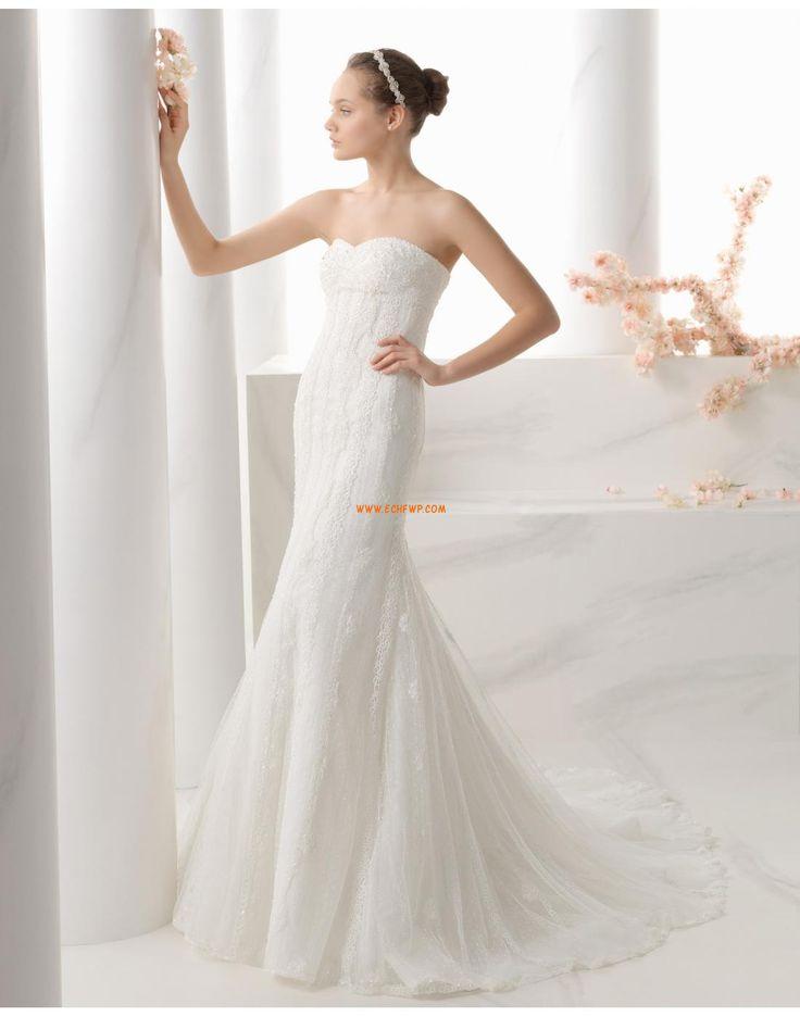 Axelbandslös Elegant & Lyxig Empire Bröllopsklänningar 2015
