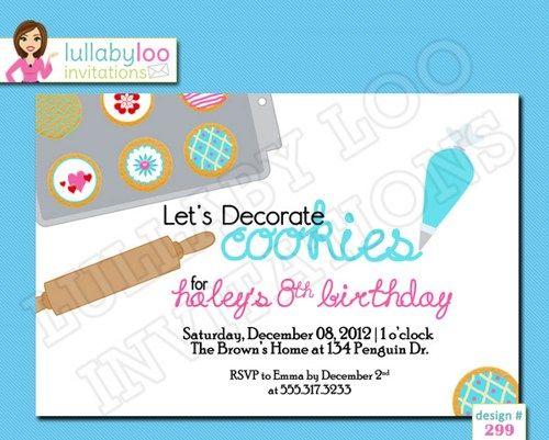 17 Best images about Cookie Decorating Party – Cookie Decorating Party Invitations