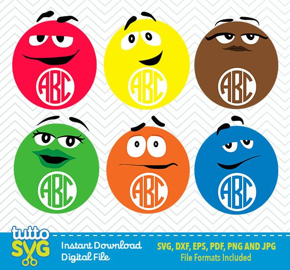 m m candy faces svg pictures to pin on pinterest pinsdaddy
