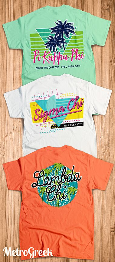 Fraternity Rush Shirts | Retro T-shirts | Fraternity Shirts | Pi Kappa Phi Shirts | Lambda Chi Shirts | Lambda Chi Alpha | Sigma Chi Shirts | Rush Shirts | Custom Greek Shirts | Fraternity Life | Comfort Colors | Eighties T-shirts | Pi Kapp Shirts | Recruitment Shirts | Custom Fraternity Shirts |