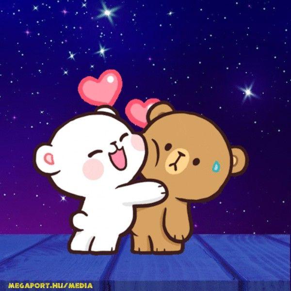 Cute Teddy Bears In Love Animated Gif Cute Bear Drawings Cute Love Cartoons Teddy Bear Cartoon