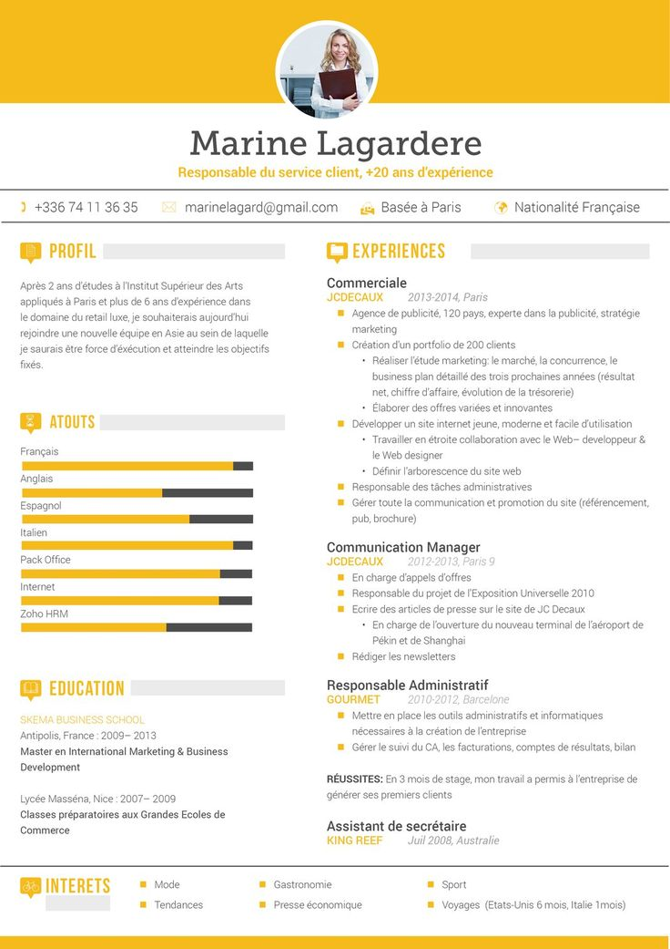 Best Cv Originaux Images On   Curriculum Resume And