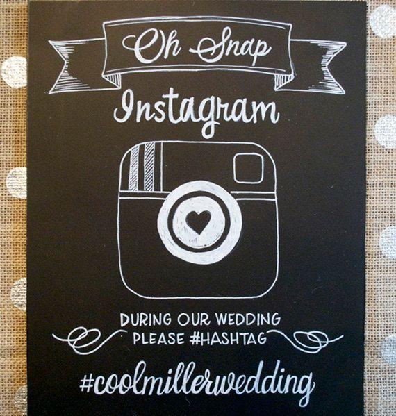 Hand Drawn Chalkboard  // Wedding Sign // Instagram