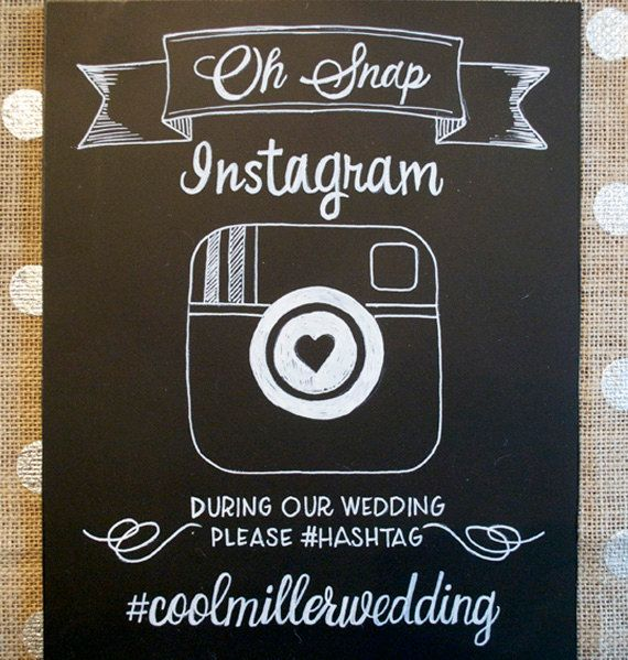 Hand Drawn Chalkboard // Wedding Sign // Instagram