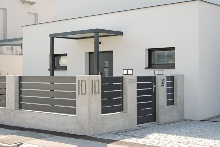 Triest aluminium fence - very simple and elegant