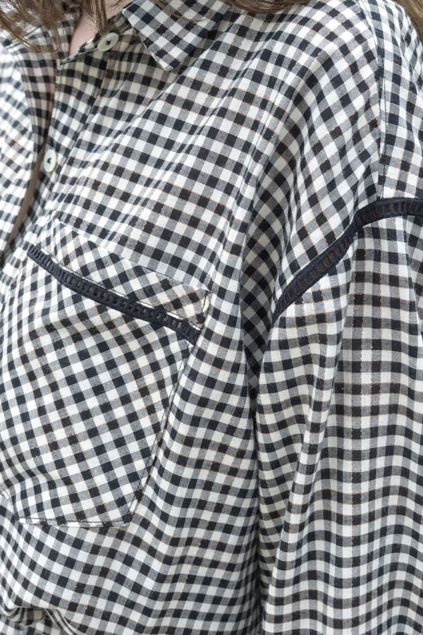 Robe chemise Andréa vichy - MAISON BRUNET - http://maisonbrunet.com/product/robe-chemise-andrea-vichy?ref=category-femme #robe #robechemise #dress #vichy #gingham #ss16 #femme #women #details #madewithlove #conçuaparisavecamour