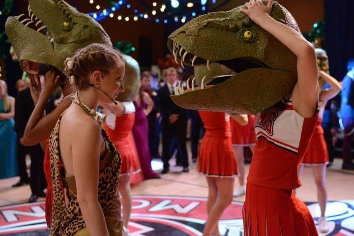 "Behind the scenes photo from the ""Prom-asaurus"" episode. Original Air Date 5/8/2012"