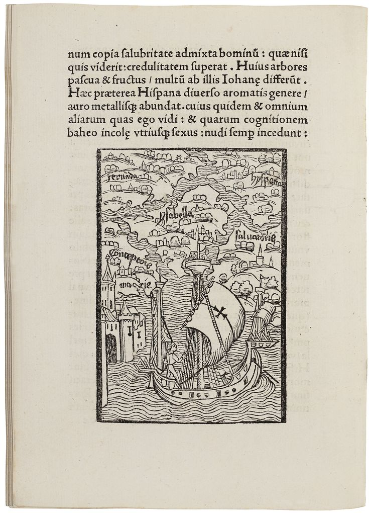 Second Basel edition of Columbus' first account of the discovery of the New World. Preceded by: Carolus Verardus, Historia Baetica.