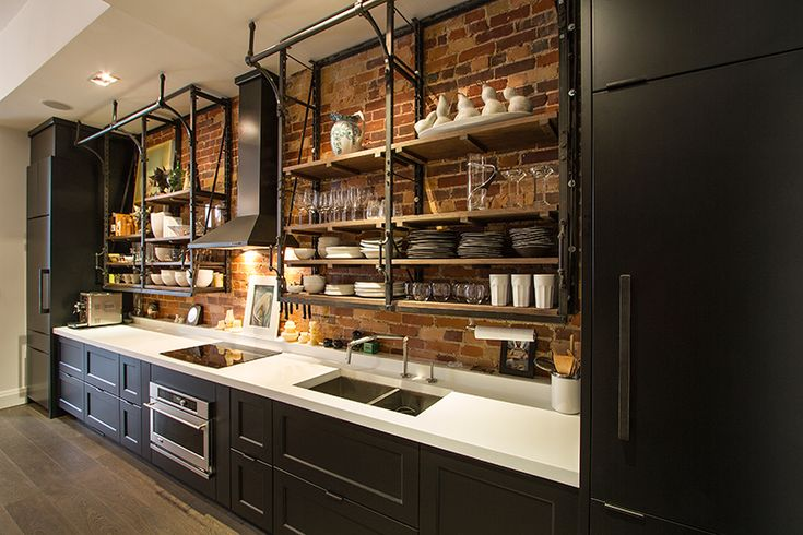 The 25 best rustic galley kitchen ideas on pinterest for Galley kitchen without upper cabinets
