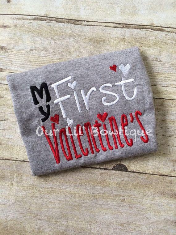 My 1st Valentine Shirt  -Valentines Shirt - Babies First Valentines Onesie - Personalized Valentines Shirt - My First Valentine's Day - by OurLilBowtique