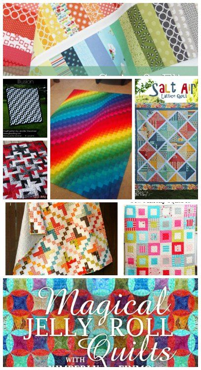 The best free jelly roll quilt patterns. From beginner to advanced and everything in between. Love that rainbow one!