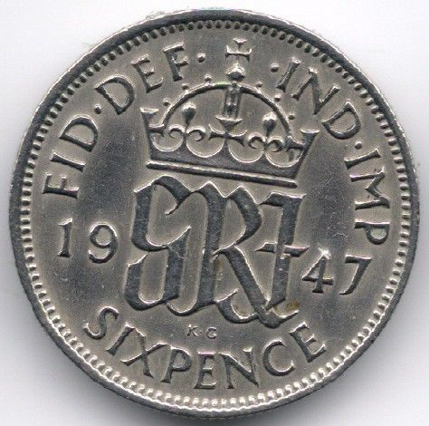 United Kingdom 6 Pence 1947 Veiling in de Decimaal,Brits,Munten,Munten & Banknota's Categorie op eBid België