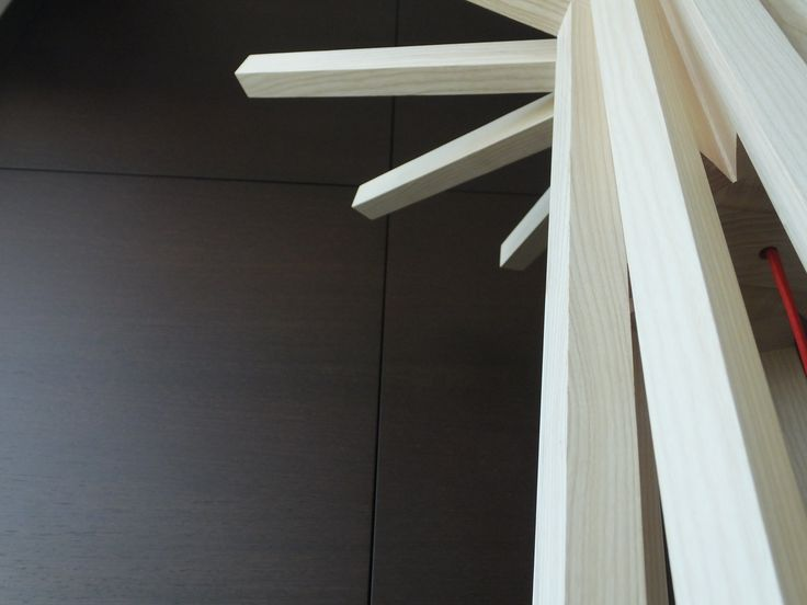 Lamapada artigianale  in legno masselloa Led mod. TEEPEE.  Made in Italy 100%