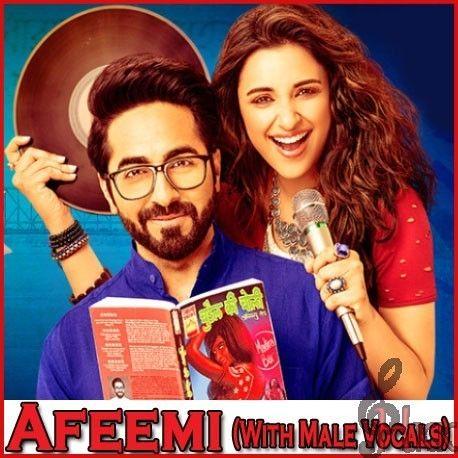 HindiKaraokeKart.com  Afeemi (With Male Vocals) - Meri Pyaari Bindu (Video Karaoke Format) Best Quality Hindi Bollywood Karaoke Tracks