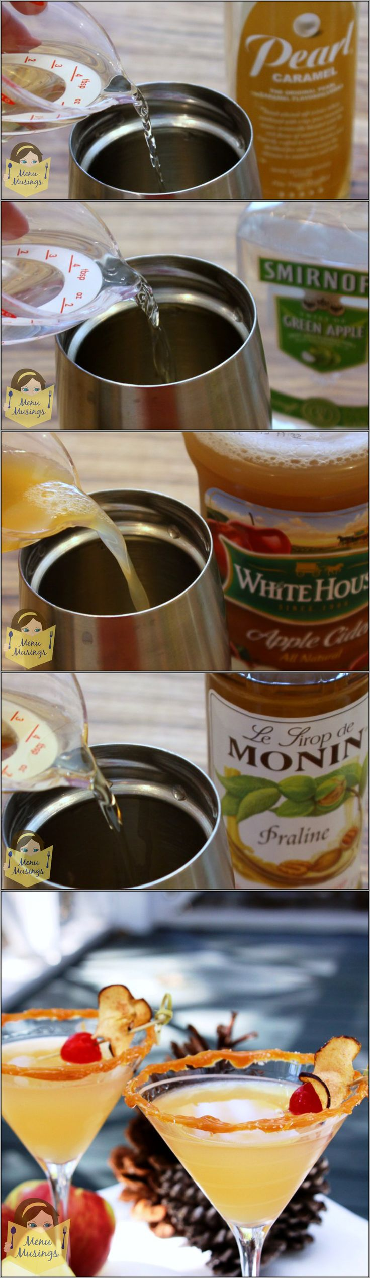 Awesome Salted Caramel Appletinis Who can resist the flavors of caramel apples Step