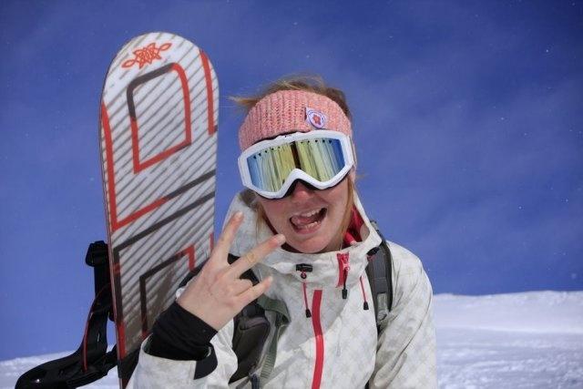 Snowkiter Caroline Onarheim aka Flowerkite