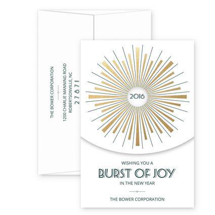 StarbursteInviteBusinessHoliday Cards
