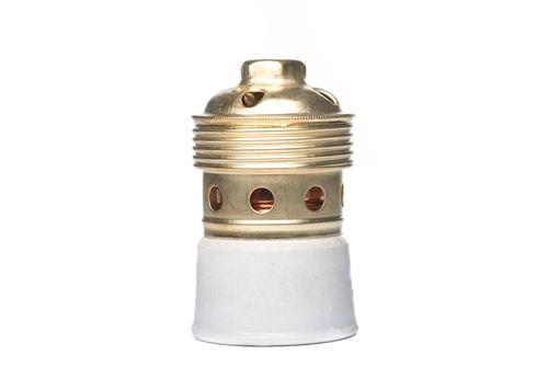 Casquillo de latón rosca GOLIAT E40  #lamparas #montar #fabricar #decoracion #accesorios #piezas