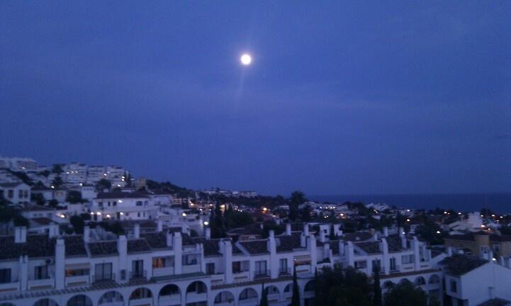 Noche de verano (Cala de Mijas, Málaga)