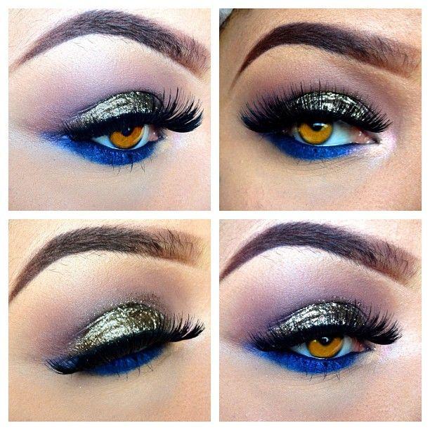 Bronze, Make Up, Gorgeous Eye, Eye Colors, Beautiful, Blue Eye Makeup, Eyeshadows, Eyemakeup, Electric Blue
