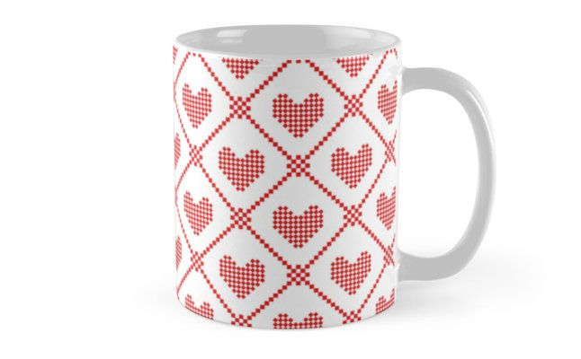 Pixelated heart pattern by Stock Image Folio