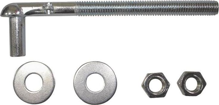 "Mintcraft LR086 Steel Bolt Hook, 3/4"" X 9"""