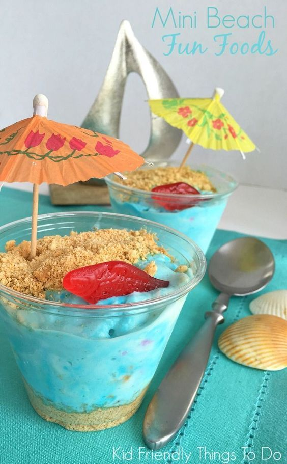 Easy Mini Beach Ice Cream Fun Food - Perfect for Under the Sea, Ocean, and Finding Dory parties - KidFriendlyThings...