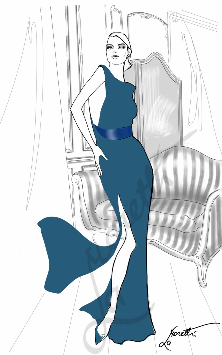 """Lanvin Girl - ss15"". Illustration by Nadia La Moretti"