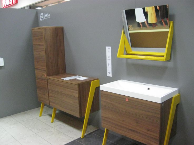 Wybrane projekty mebli łazienkowych przygotowane przez studentów w ramach 13 PE-P, będą wkrótce dostępne wśród kolekcji mebli łazienkowych marki Defra.(fot. Pfleiderer)