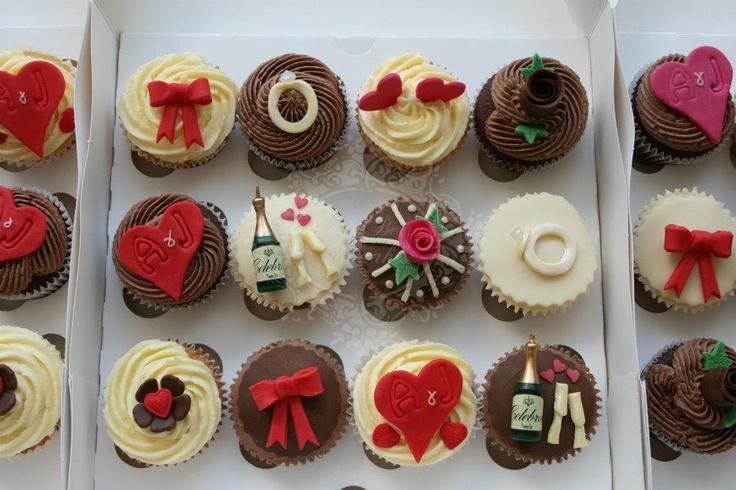 Engagement Cupcakes www.ladyberrycupcakes.co.uk