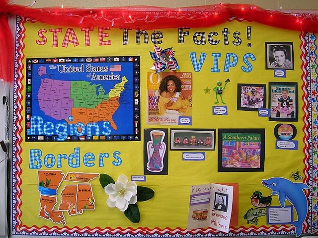 """{pinned for future classroom theme post @ www.CFClassroom.com}  Love the title, """"State the Facts"""" for a travel / transportation theme."""