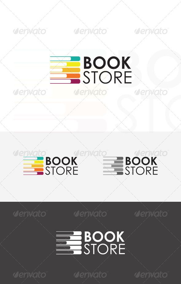 Book Store  - Logo Design Template Vector #logotype Download it here: http://graphicriver.net/item/book-store-logo/5395060?s_rank=1221?ref=nexion