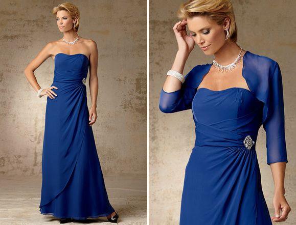 Mother of the Bride Softly Draped Chiffon Dress