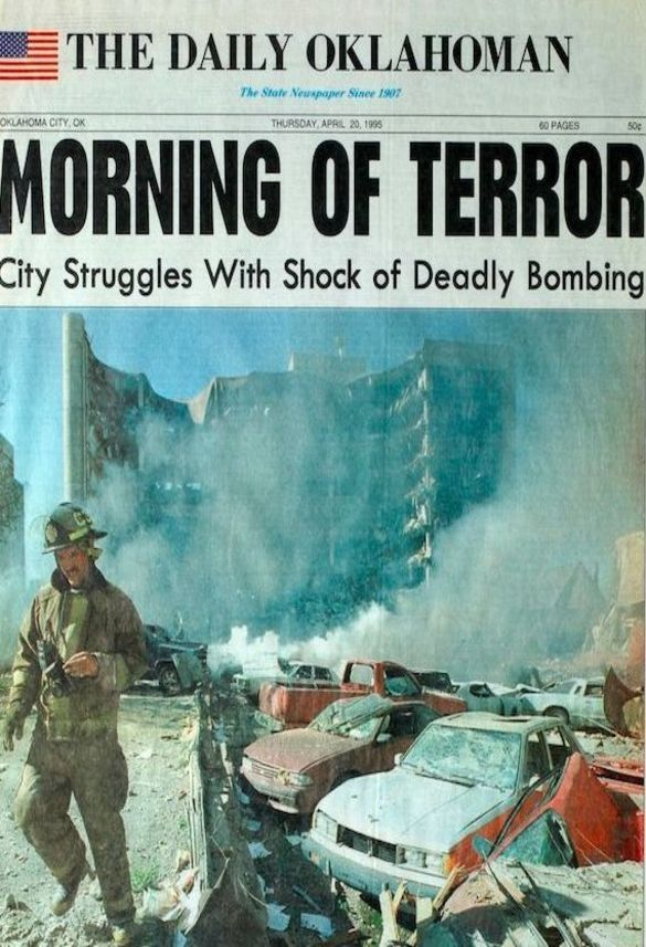 Oklahoma City, Oklahoma Bombing On April 20, 1995 Headlines... I sure remember that day - was working in office 8 miles to the north, and it shook our building like a rag doll.